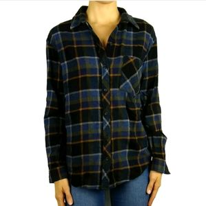 Wilfred Free flannel plaid button up Daphne shirt